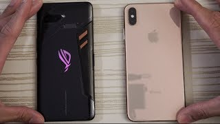 Asus ROG Phone vs iPhone XS Max - Speed Test! What Will Happen?!