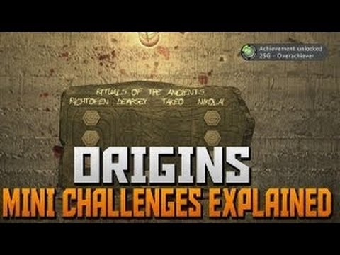 Black Ops 2 Zombies Origins Mini Challenges Explained - BO2 Origins Overachiever Achievment TUTORIAL - Smashpipe Games