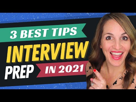 3 CRUCIAL Job Interview Prep Tips - What To Do Before ANY Job Interview in 2021 photo