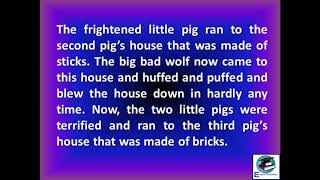 Learning English through story | The Three Little Pigs
