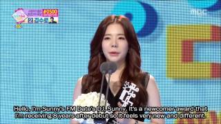 [ENG SUB] 141229 SNSD Sunny's Acceptance Speech - MBC Entertainment Awards
