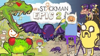 Draw a stickman epic 2 All Boss Fight Gameplay - Finn and Jake