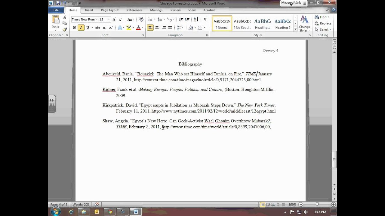 how to write a bibliography for a youtube video