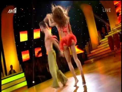 Ειρήνη Παπαδοπούλου Κωσνατντίνος Παπάζογλου Η εμφάνιση στο έβδομο live του Dancing With The Stars 5