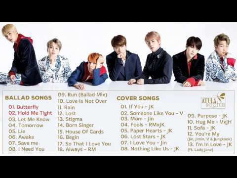 BTS (방탄소년단) Ballad & Cover Songs || Best Song Of BTS pt.6 (updated 1/2017)