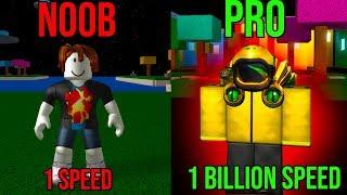 ROBLOX SPEED SIMULATOR NOOB VS PRO *1 BILLION SPEED*