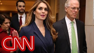 Trump aide Hope Hicks doesn't answer crucial questions