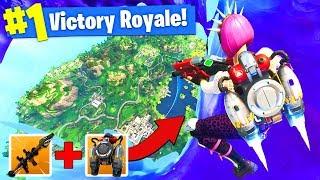 Flying *ABOVE THE STORM* (Rocket + Jetpack) In Fortnite Battle Royale!