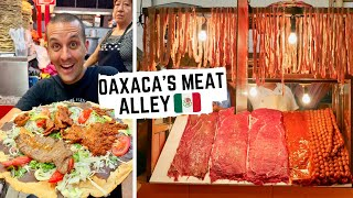 Amazing MEXICAN STREET FOOD | GRILLED MEAT ALLEY+ Grasshopper tacos in OAXACA | UNIQUE OAXACAN FOOD
