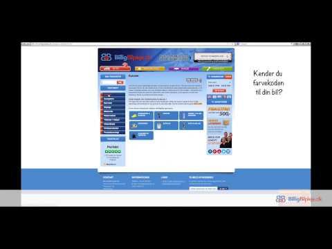 Guide til Web: Bestilling af Specialtonet lak