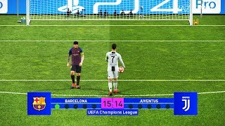 Barcelona vs Juventus | Final UEFA Champions League - UCL | Penalty Shootout | PES 2019