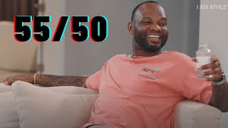 Fred Taylor shows off his math skills.