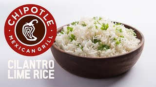 Chipotle's Official Cilantro Lime Rice Recipe! Quick & Easy!