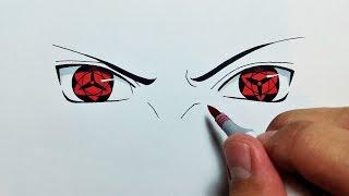 How To Draw Sasukes Eternal Mangekyou Sharingan Step By