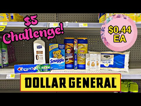 Dollar General $5 Challenge! 11/22-28/2020 I Get 10 Items for $0.44 each!
