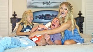 We made Cole take a birth pain simulator... (gone wrong)
