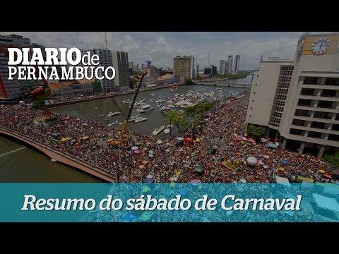 Resumo do s�bado de carnaval em Recife e Olinda