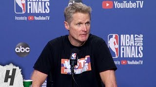 Steve Kerr Postgame Interview - Game 2 | Warriors vs Raptors | 2019 NBA Finals