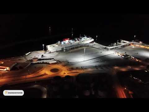 Titan mastbelysning Visby hamn
