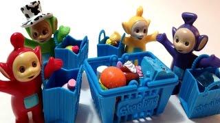 تيليتابيز بالعربية مع لعبة التسوق تلتبيز - شوبكينز  ألعاب أطفال Teletubbies and Shopkins