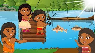 Funny Stories About Moana & Maui Family! Baby, Sister Go Fishing - Cartoon For Children