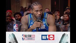 Kawhi Wins the Kobe Bryant MVP Award | All-Star 2020