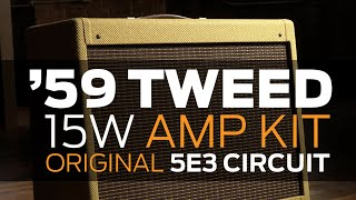 Watch the Trade Secrets Video, Hear the StewMac '59 Tweed 15W Amp Kit