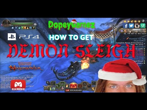 Demon Sleigh, Neverwinter PS4 2016