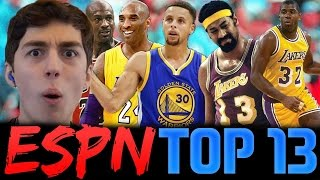 ESPN TOP 13 PLAYERS OF ALL TIME! NBA 2K16 SQUAD BUILDER