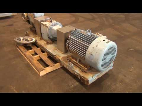 Used- Waukesha Rotary Positive Displacement Pump, Model 320 - stock # 47384105