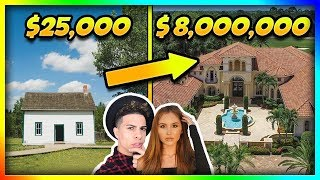 YouTubers Houses Then and Now!! (ACE Family, Roman Atwood)