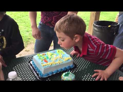 Ben is gonna blow out his candles