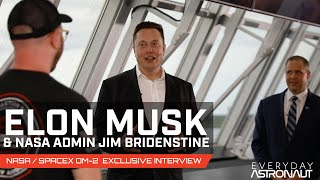 Talking to Elon Musk and Jim Bridenstine about SpaceX's first crewed launch!