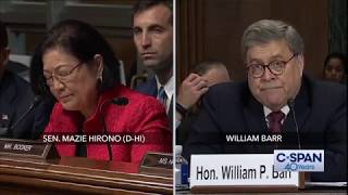 "Sen. Hirono to Attorney General: ""You knew you lied and now we know."" (C-SPAN)"