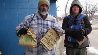 300 Cheeseburgers Feeding the Homeless! - Helping the Needy