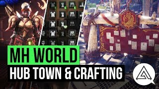 Monster Hunter World   Hub Town Gameplay, Armor & Weapon Crafting & New Training Room