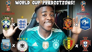 MY PREDICTIONS FOR THE 2018 WORLD CUP IN RUSSIA!!!