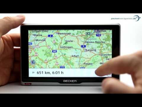Top Navi Test: 7 Geräte im Vergleich - Becker RouteMoov Funktionsvorstellung