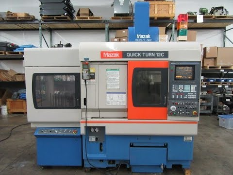 Mazak QuickTurn 12C CNC Lathe w Flex-GL-50C Gantry Loader For Sale AT www.machinesused.com