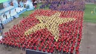 Hàng nghìn Thanh niên xếp hình cờ tổ quốc