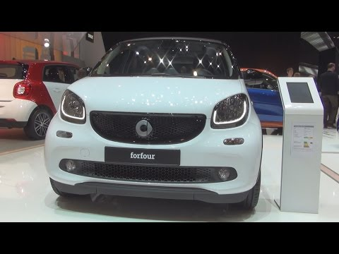 Smart Forfour 66 kW Twinamic White (2016) Exterior and Interior in 3D