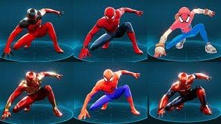 Spider-Man Ps4 - All 38 Suits Showcase Including all 10 DLC Suits!
