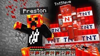 TNT STEVE ATTACKS PRESTONPLAYZ & LOGDOTZIP! *CORRUPTED MINECRAFT WORLD*