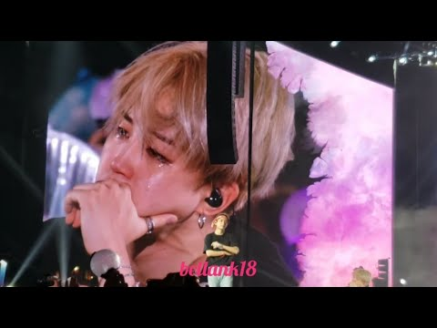 181006 (Love Myself /ending stage with Jimin Crying 😭😭) BTS 'LOVE YOURSELF TOUR CITIFIELD' NY