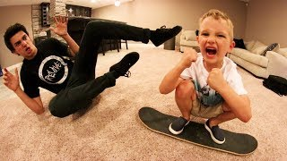 6 YEAR OLD BEATS ME IN CARPETBOARD S.K.A.T.E?!