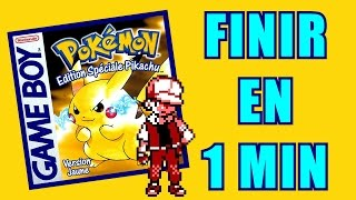 POKEMON JAUNE EN 1 MINUTE ! [Laupok Speed Comment]