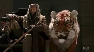 The Walking Dead 7x02 Morgan and Carol meets Shiva and King Ezekiel