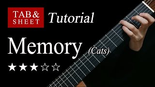 Memory (Cats) - Fingerstyle Lesson + TAB