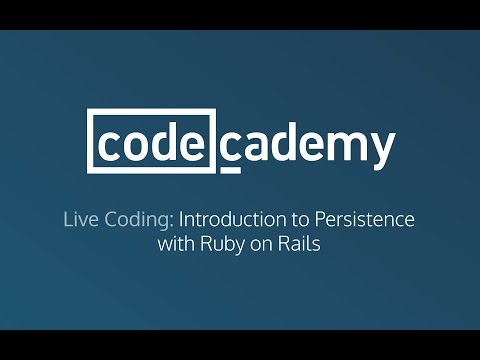 Live Coding: Introduction to Persistence with Ruby on Rails