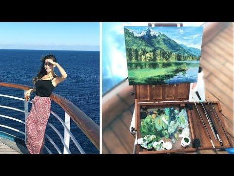 Oil Painting At Sea – Artist Travel | Lena's Art Diary #15